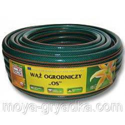 Шланг поливочний діаметром 3/4 20м зелений