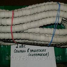 Спіраль для електроплити (печі, каміна, духовки) в кераміці (вир-ль Україна), 2 кВт.