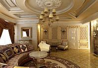 Гостиная с многоуровневыми потолками № 6
