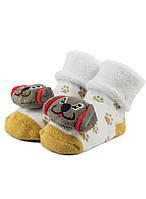 BABY RATTLE ABS носочки для малышей махровые с погремушками и ABS