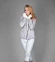 Женская теплая курточка на молнии