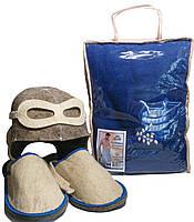 Набор для бани и сауны мужской Летчик (парео, тапочки, шапочка)