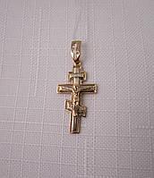 Крестик золотой 585* с распятием из красного и белого золота