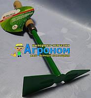 """Мотыжка комбинированная, """"трапеция"""" и """"лепесток"""", деревянная рукоятка, 350 мм Palisad"""