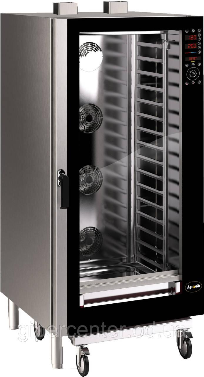 Газовые пароконвектоматы APACH A1/20HD-GAS на 20 уровней (с тележкой)