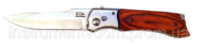 Нож выкидной маленький (деревянная ручка)