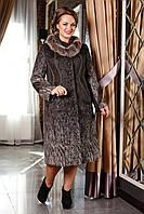 Женское зимнее пальто больших размеров (р. 50-58) арт. 720 Сashimire Тон 2