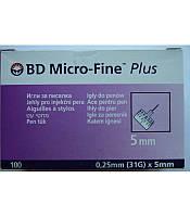 Иглы для шприц-ручек BD Micro-Fine 5 мм, 100 шт.