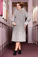 Женское зимнее пальто больших размеров (р. 50-58) арт. 720 Сashimeco Тон 3