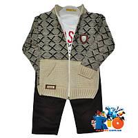 Теплый детский костюм, для мальчиков, теплый, без рисунков, (6-12)(12-18)(18-24)