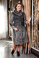 Зимнее женское пальто больших размеров (р. 50-58) арт. 720 Сashimire Тон 4