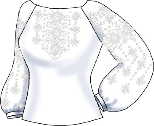 СВЖБ-38. Заготовка Жіноча сорочка лляна біла