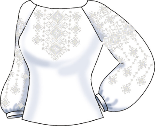 СВЖЛ-38. Заготовка Жіноча сорочка лляна ccf76a10a1290