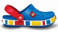 Кроксы детские Crocs Crocband Lego, детские кроксы крокбанд лего синие