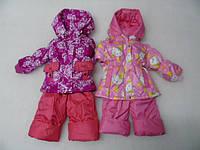 Детские демисезонные комбинезоны девочкам от 6 месяцев до 5 лет, утеплены флисом, есть трикотажные манжеты