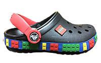 Кроксы детские Crocs Crocband Lego, детские кроксы крокбанд лего черные
