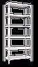 Стеллаж МКП М411 на болтовом соединении (3600х1200х600)