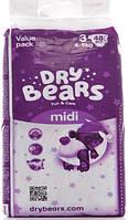 Dry Bears Fun&care Подгузники 3 midi (4-9кг),48 шт