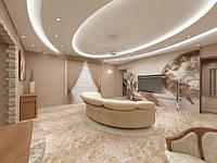 Декор гостиной с наливными полами № 10