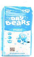 Dry Bears Fun&care Подгузники 4 maxi (7-18кг),44 шт