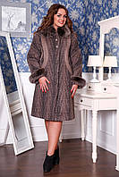 Женское зимнее пальто большие размеры (р. 50-60) арт. 620 Тон 109