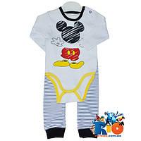 Комплект детский боди и штанишки, для мальчиков, с рисунком, 3-6-9-12 мес