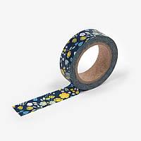 Бумажный скотч Dailylike washi tape - Wedding Bouquet - Navy