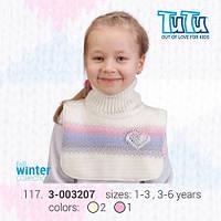 """Манишка для девочки из новой коллекции """"TuTu"""" арт. 3-003207"""