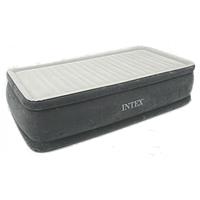 Надувная кровать Intex 64412 со встроенным насосом 220V, 191 х 99 х 46 см Премиум Качество