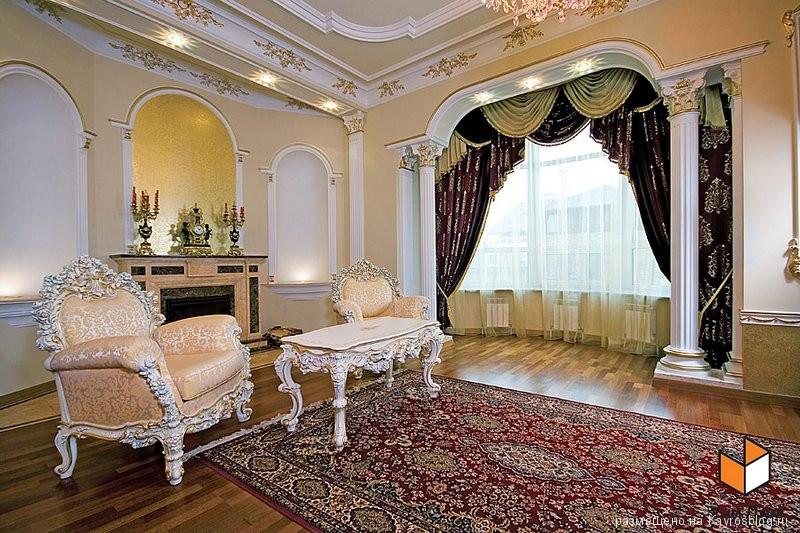 Дизайн для большой гостиной с камином Строительство Коттеджей, Домов в Украине