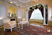 Дизайн для большой гостиной с камином № 13
