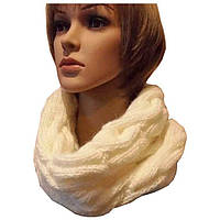 """Вязаный зимний шарф снуд в стиле Лало объемной ручной вязки """"косами"""""""
