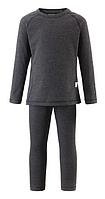 Комплект термобелья Reima шерсть (фут-ка с длинным рукавом, штани) детский. 526242 160, серый