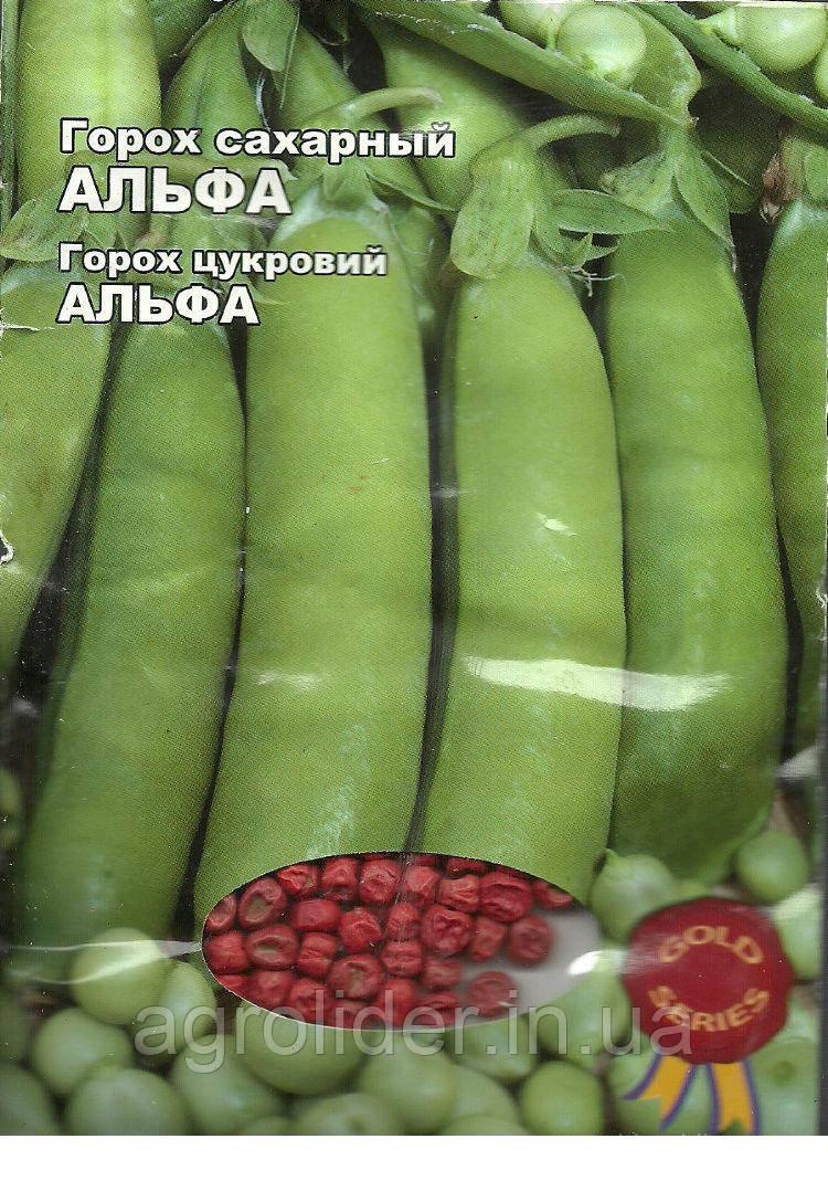 Семена горох сахарный Альфа Gold 20г Зеленый (Малахiт Подiлля)