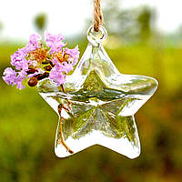 Ваза подвесная стеклянная - Звезда 11 см V003