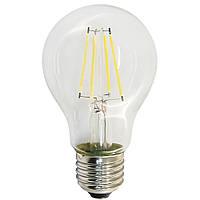 Светодиодная лампа E27 8 Вт филамент теплый белый (3200К)
