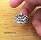 """Кольцо """"Корона Люкс"""" серебристого цвета в виде короны набор из 2-х колец., фото 5"""