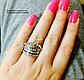 """Кольцо """"Корона Люкс"""" серебристого цвета в виде короны набор из 2-х колец., фото 4"""