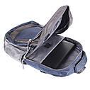 Рюкзак текстильный городской 1-2350 синий, фото 5