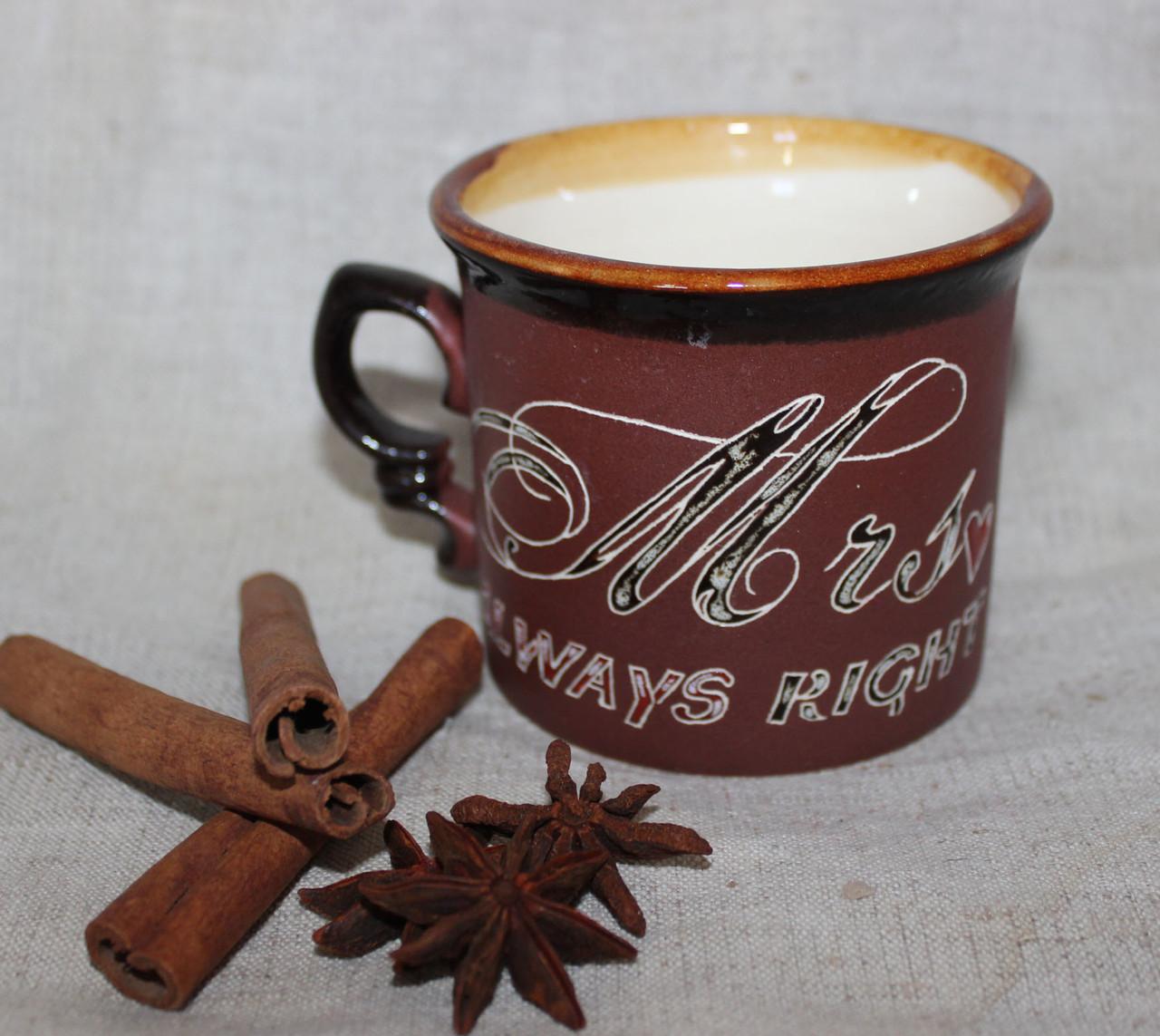 Чашка керамическая «Всегда права»