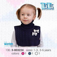 """Манишка для девочки из новой коллекции """"TuTu"""" арт. 3-003224 синий"""