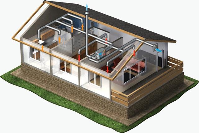 Пример установки в частном доме