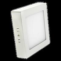 Светодиодный накладной светильник LED 18W квадрат 3000K
