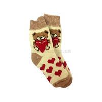 Мягкие ангоровые носки с бордовым орнаментом