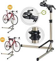 Стенд для ремонта велосипеда алюминиевый, складной, регулируемая высота 100-150 см, регулируемый угол наклона