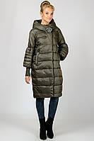 Зимнее женское длинное пальто с капюшоном на силиконе Angel Bestow