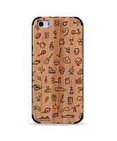"""Деревянный чехол с гравировкой для Apple iPhone 5 """"Hobbies"""""""