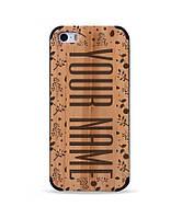"""Деревянный чехол с гравировкой для Apple iPhone 5 """"Именной"""""""