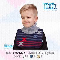 """Манишка для мальчика из новой коллекции """"TuTu"""" арт. 3-003227"""
