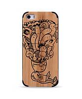 """Деревянный чехол с гравировкой для Apple iPhone 5 """"Brain Storm"""""""